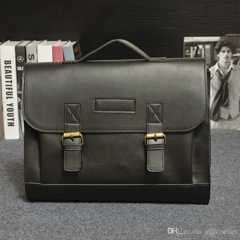 2016 nuovo progettista di marca borsa da uomo in vera pelle borse a tracolla borse a tracolla borsa messenger moda uomo di lusso borse casual business