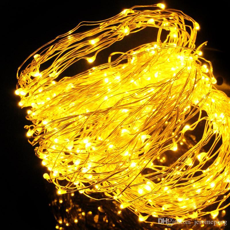 태양 강화한 끈 33Ft 구리 철사 100의 별빛 끈 빛 방수 요전은 옥외 정원을위한 Ambiance 점화를 점화한다