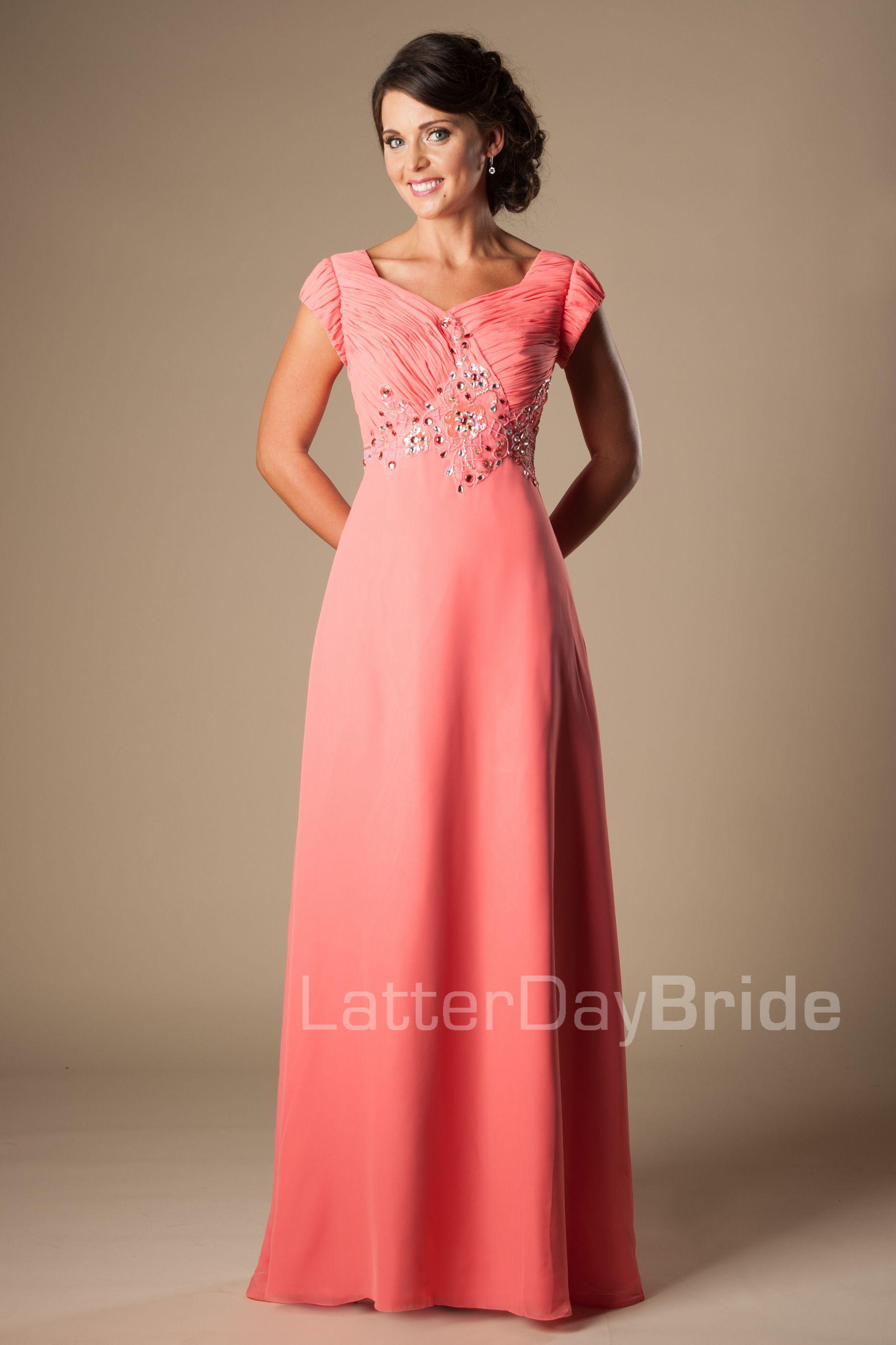 Beaded Chiffon Prom Dress