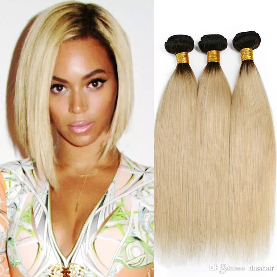 Großhandel T1b 613 Dunkle Wurzel Ombre Blonde Haar Bundles Ombre