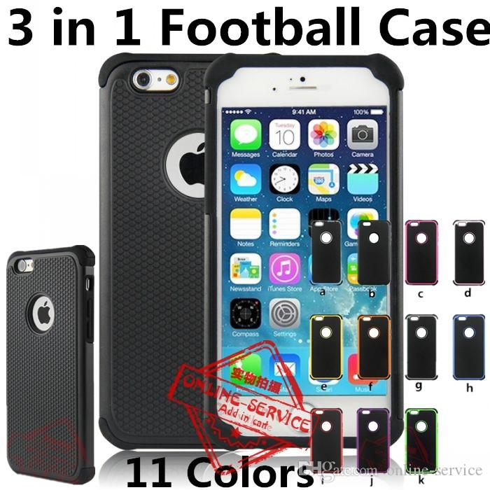 809770c9c9 2 In 1 Hybrid Football Case Rugged Impact Rubber Matte Shockproof Heavy Hard  Case For Apple IPhone 6S 6S Plus 5S SE 4S 5C Touch 5 Touch 4 Customize Cell  ...