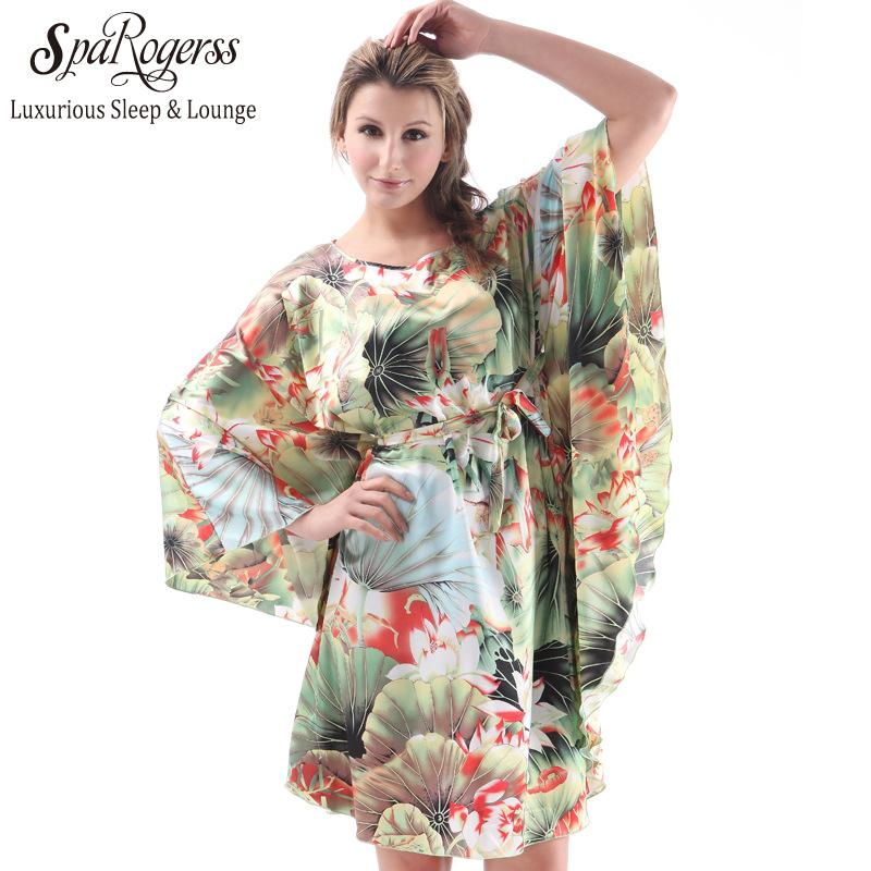 2019 Wholesale SpaRogerss Plus Size Women Nightgowns 2017 Ladies  Sleepshirts For Mothers Fashion Batwing Casual Home Summer Female Robes  7795 From Odeletta 047431922