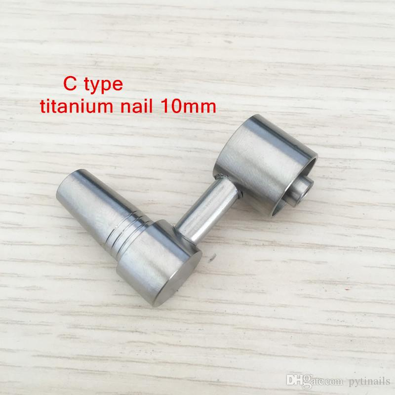 wholesale best price GR2 Domeless Side Arm Titanium Nail E-nail Dab Carb Cap of sale