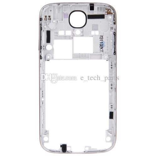 Рамка Назад Средний Корпус для Samsung Galaxy S4 i9500 i9505 против i337 I545 L720 среднего кадра ободок сменной пластины белого цвета /