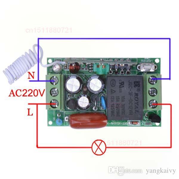 AC220V 10A 1CH RFWireless نظام التحكم عن بعد التبديل الطاقة 4 Receiver1 يتم ضبط حالة الإخراج الارسال