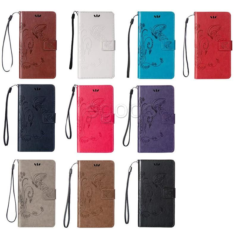 Leder Brieftasche Fall Geprägte Butterfly Holster Insert Karten Abdeckung Für Sumsung A9 S3 S4 S5 S6 J1 Mini J3 Pro J3 J5 J7 2017