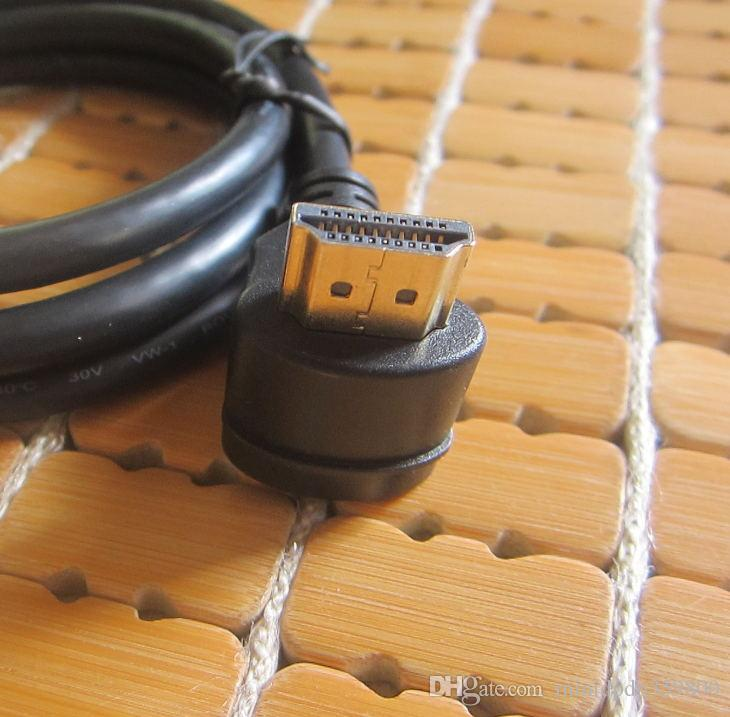 /90 Degree Up Direction Angled HDMI Male to 90 Degree HDMI Male HDTV Cable for Monitor Projector 1 m