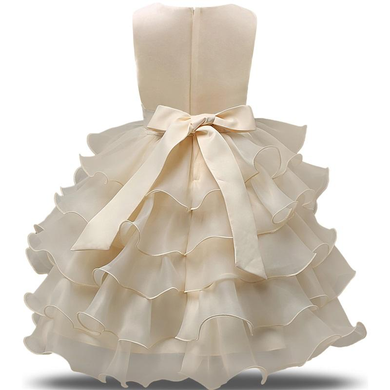 Infant Wear Princess Girls Clothes Junior Child Kids School Grade Prom Gown Summer Baby Girl Dress For Wedding Birthday Party