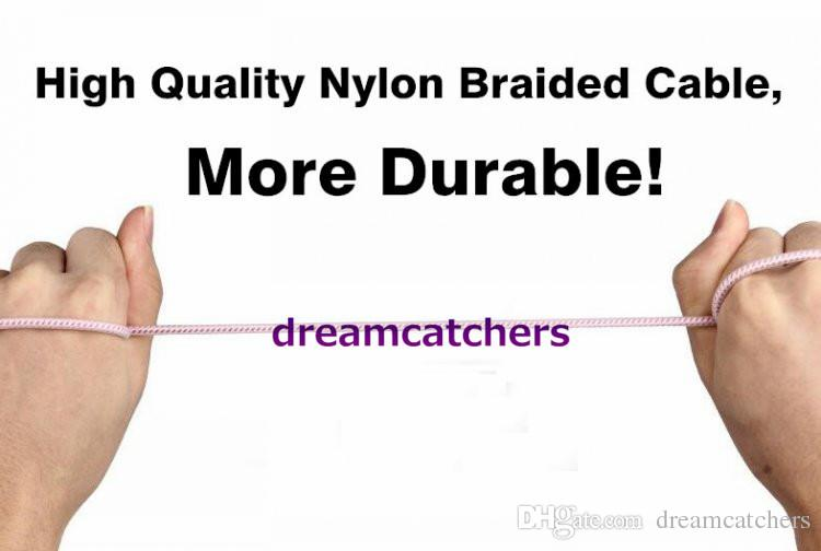 1M 1.5M Aluminium Braided Woven Audio Cable 3.5mm Stereo Male Extended AUX Auxiliary wire for iphone 6S Samsung S7 MP3 Speaker computer