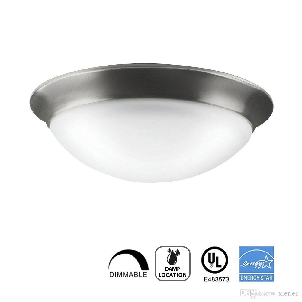 round light fixture brushed nickel 2018 led ceiling light flush mount fixtures11 inch 15w dimmable 3000kantique glass brushed nickel round lamp fixtureul energy star listed from xierled