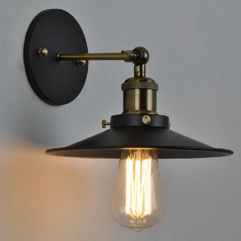 vintage plated industrial wall lamp retro loft led wall light lamparas de pared stair bathroom iron wall sconce abajur luminaria from bingomarket