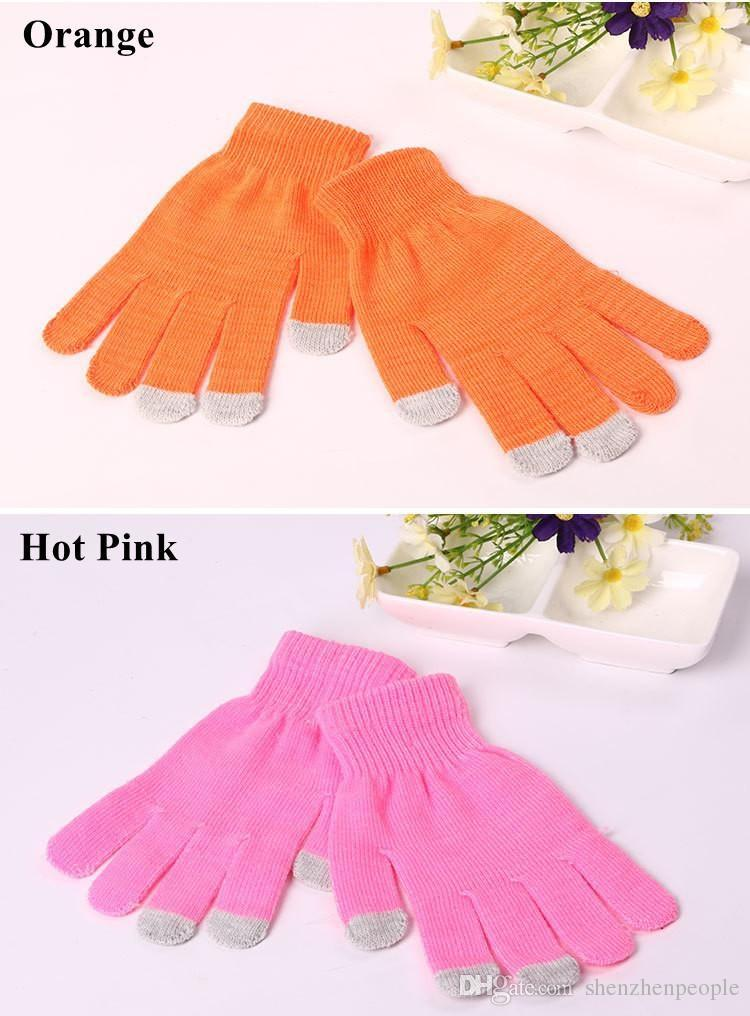 DHL Knit Wool Touch Gloves for mobile phone Touch Screen Gloves for smartphone