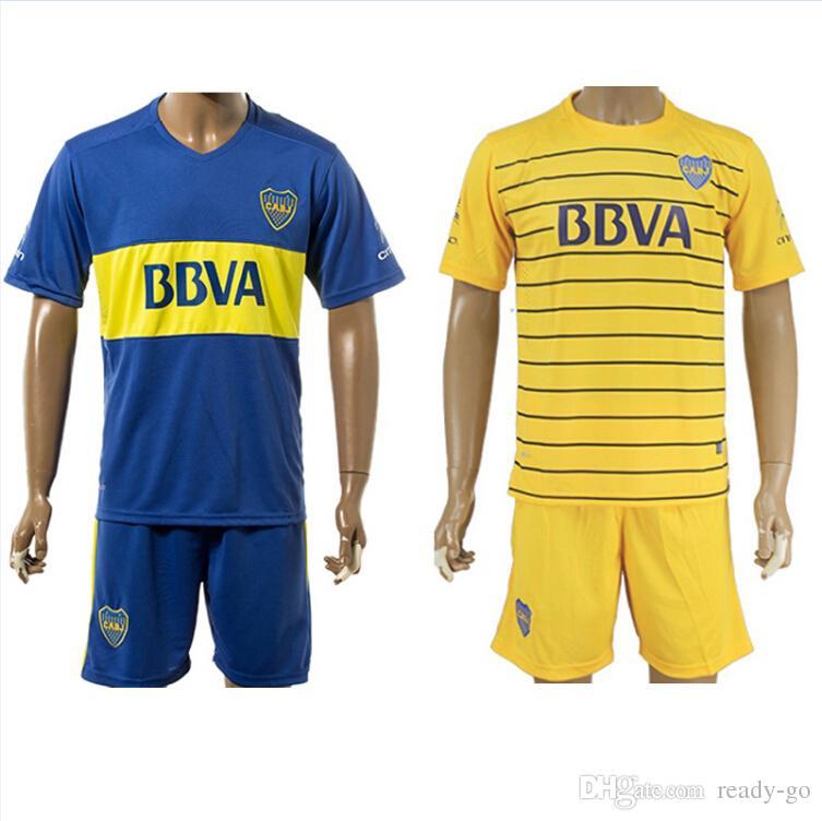 bdb18f653 2019 2016 Boca Juniors Soccer Jerseys Shirts Sets Calleri Gigliotti Gago  Martinez Carrizo 16 17 Home Away Football Kits Soccer Uniforms Jersey From  Ready Go ...