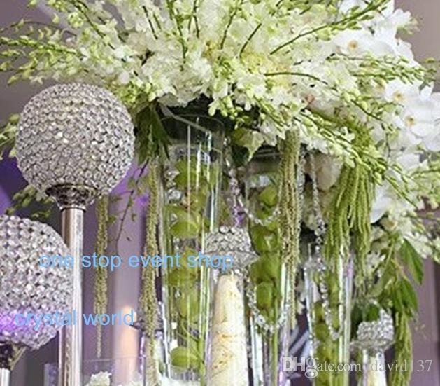 Glass Crystal Votive Candle Holder, Wedding Centerpiece & Home Decoration