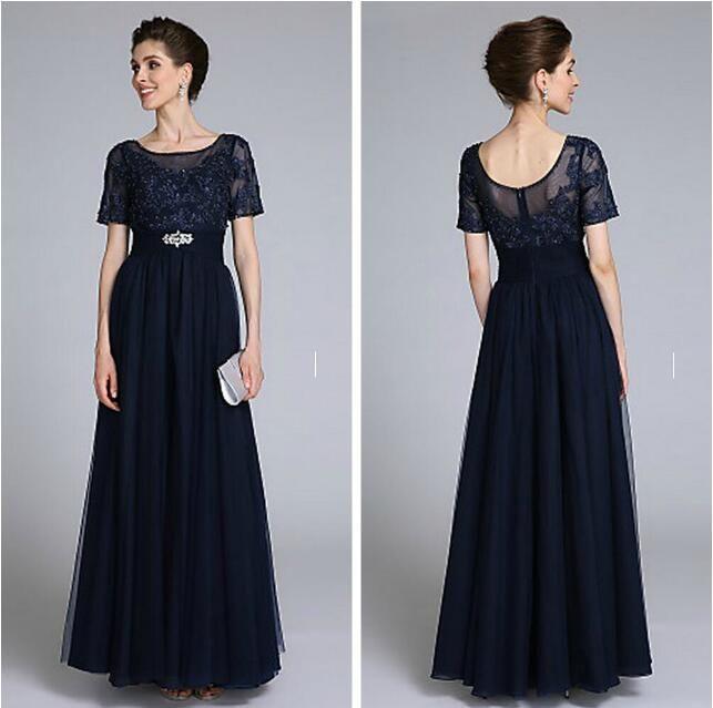 2016 Elegant Mother Of The Bride Groom Dresses Floor