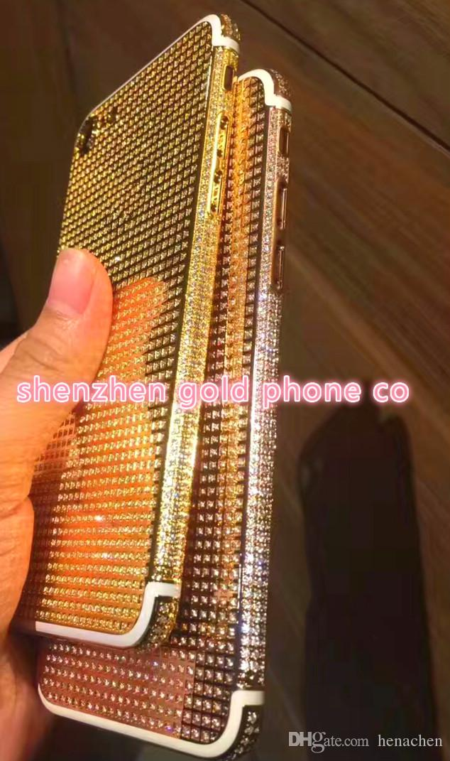 rose gold Plating Back Housing Cover Skin Battery Door For iPhone 7 7+ for iphone back housing full crystal diamond replacement crystals
