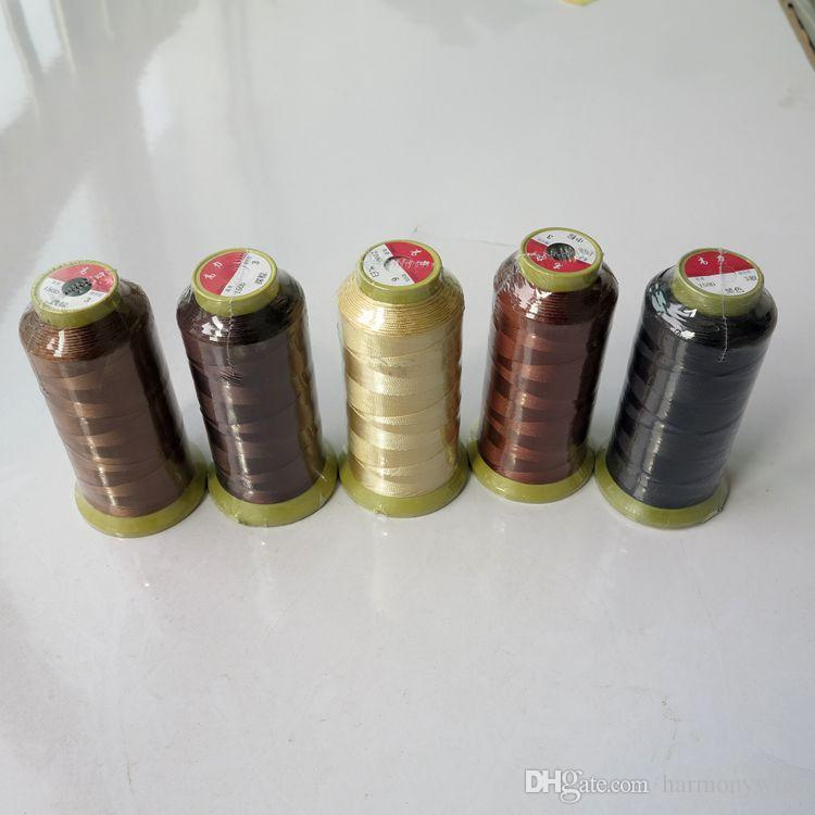 2000m Nylon weaving thread sewing thread for hair wefts clip hair professional hair extensions tools more colors