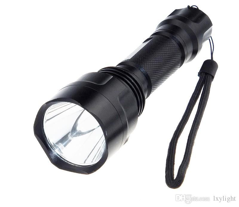 LED hunting Flashlight Torch Hight Power Cree Led Torch C8 Cree light lantern nitecore Waterproof For 1x18650