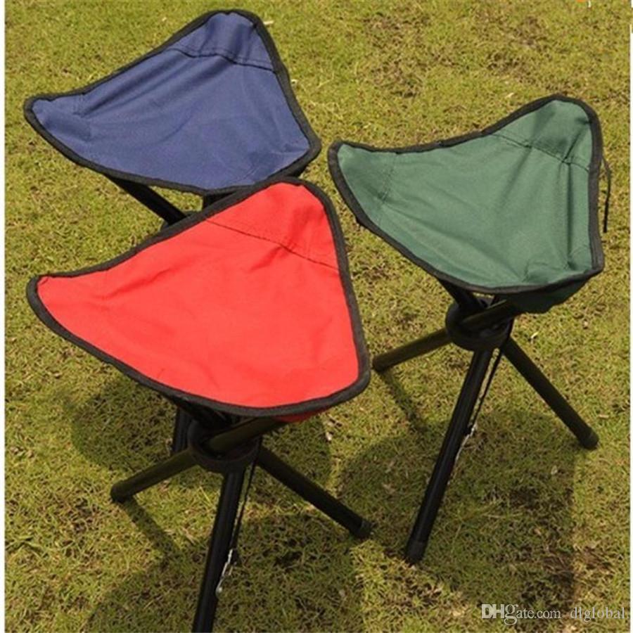 Outdoor Tragbare Leichte Camping Wandern Angeln Falten Picknick Garten BBQ Hocker Stativ Drei Füße Stuhl Sitz