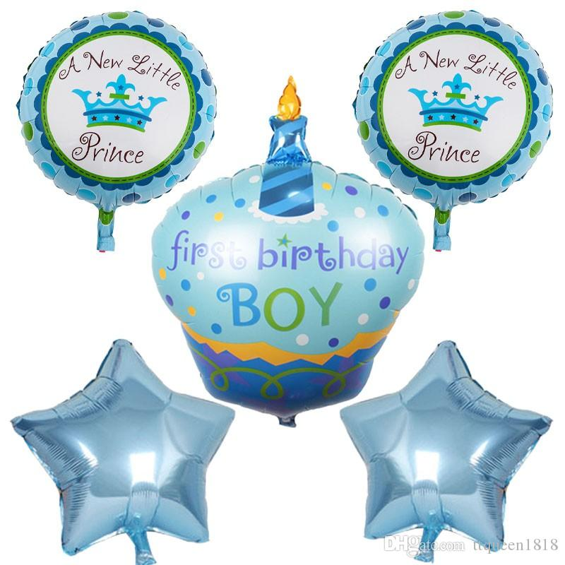Happy birthday decorations Cake foil Balloons pink blue helium balloon Inflatable birthday globos baby shower air balloon