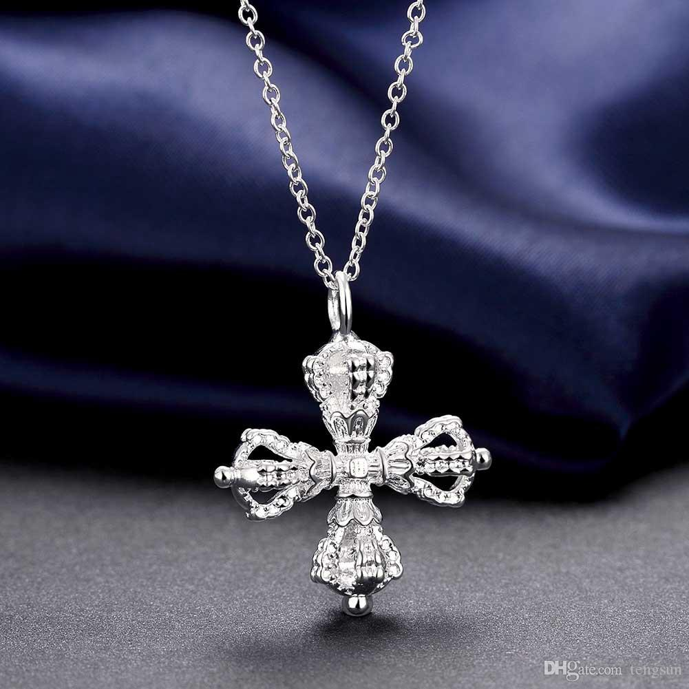cross pendants charms children's wholesale Necklaces chains 925 pure silver n790 gifts Christmas Halloween 2016 New Jewelry