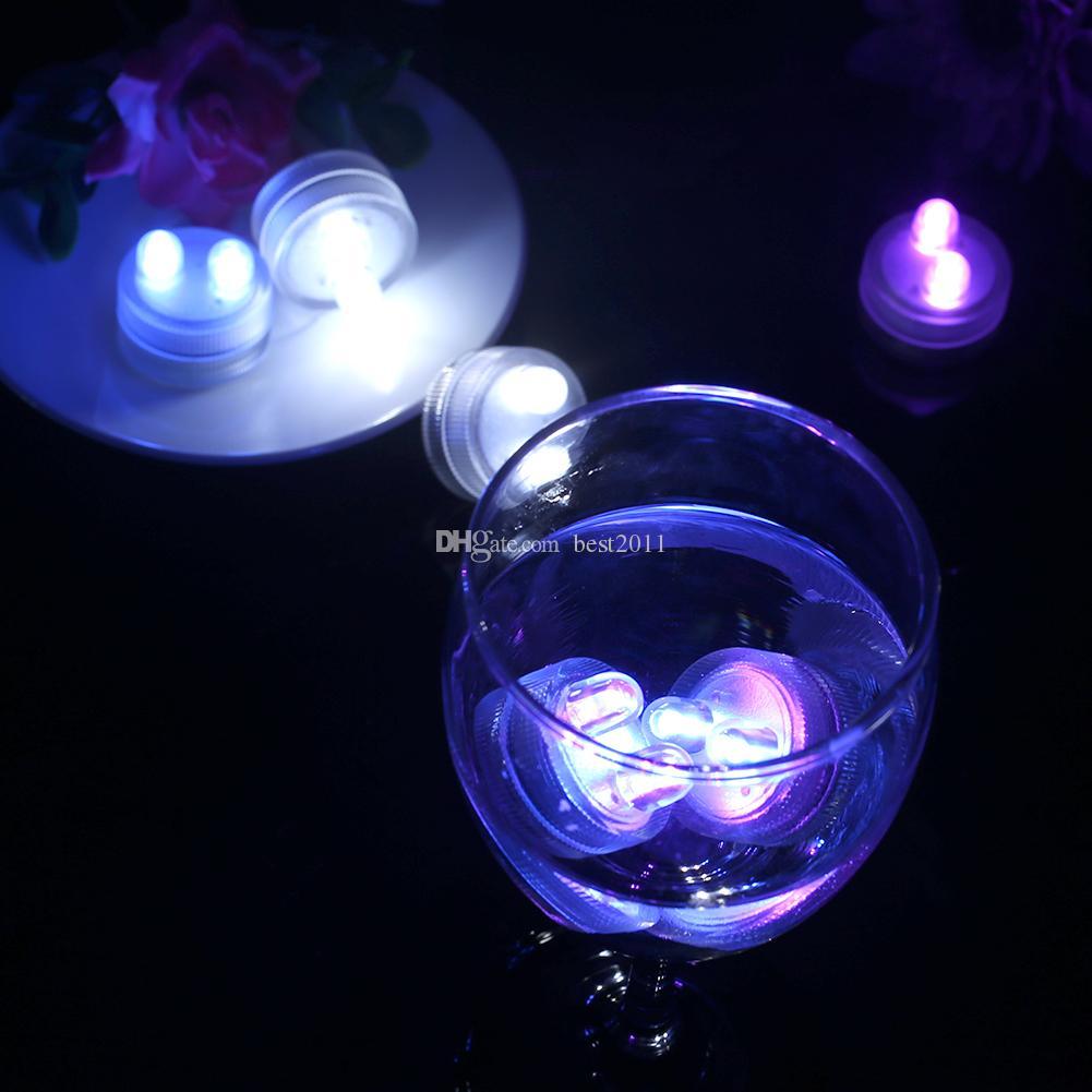 LED Bougies Lights Sous-marins Lumière de thé sous-marin Sous-lames électroniques électroniques sous-lames Sous-lampe de la batterie de Noël mariage Livraison gratuite