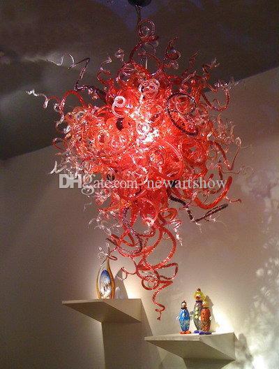 Living Room Bohemian Chandeliers AC 120v/240v LED Bulbs Ceiling Hanging Blown Glass Light Fine Art