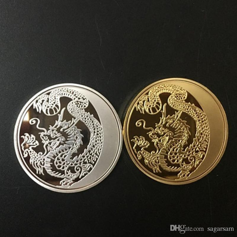 The Russia Dragon 100 Rubles 24k real gold and silver plated souvenir metal coin