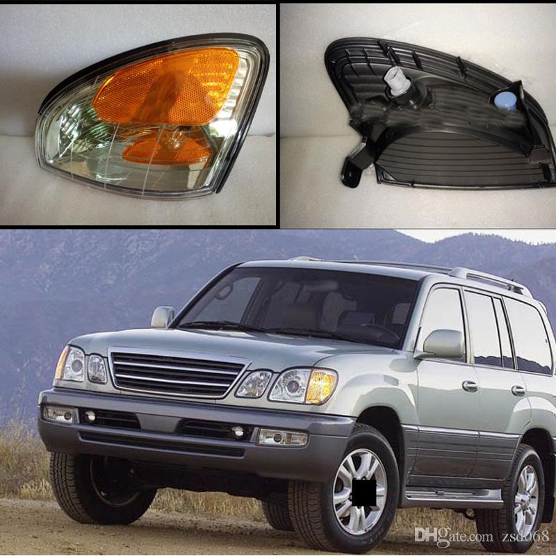 لكزس LX470 1998-2007 بدوره اشارات CAR الجبهة الوفير المتبقي يمين أضواء ركن مصباح WHITE YELOW NO اللمبات