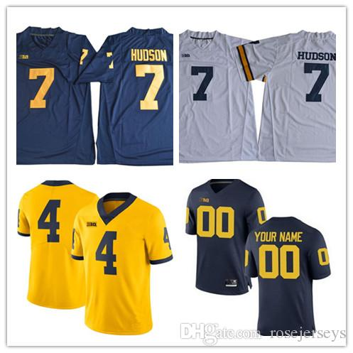 2019 Michigan Wolverines College 7 Tarik Black 17 Tyrone Wheatley 32 Ty  Isaac 44 Deron Irving Bey White Gold Navy Blue Stitched Men Jerseys S 3XL  From ... a9aed4462