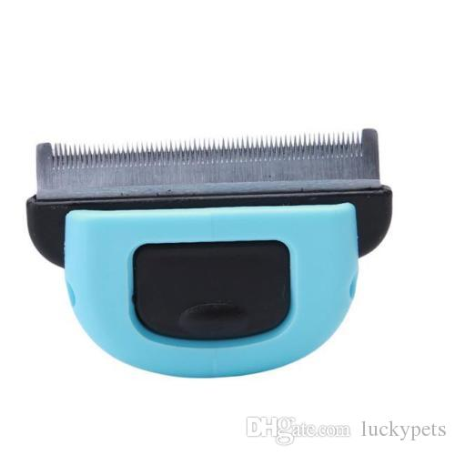 Pop Pet Shedding Tool Brush Dogs Cats Hair Short Large Grooming Brush Comb With Blue Pink