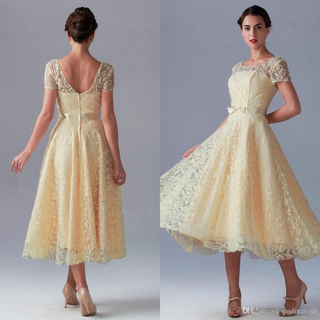 Vintage Lace Mother Of The Bride Dresses 2017 New Style