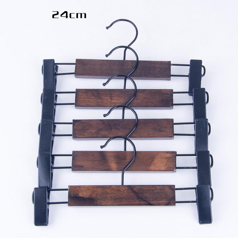New Retro Solid Wood cloth hanger for Adult Children trousers Skirt with Pant Clips