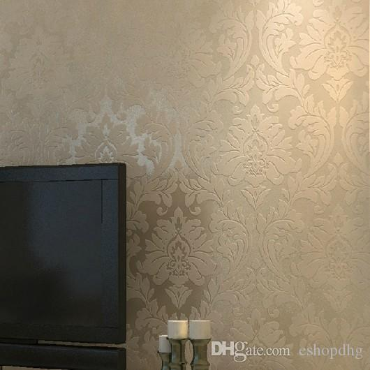 Non Woven Metallic Wallpaper Modern Background Wall Wallpaper Damask  Classic Wall Paper For Living Room Bedroom Wallpaper Wp124 Desktop  Wallpapers Desktop ...