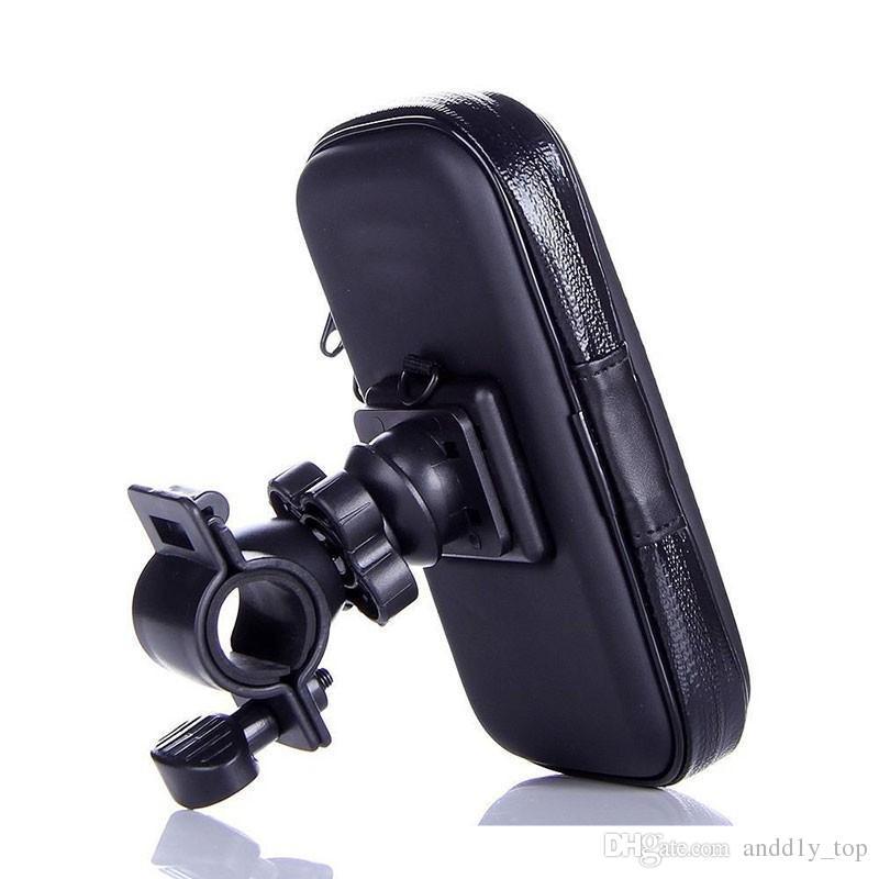 Universal Waterproof Bicycle Bike Handlebar Mount Holder Bracket Bag Case For Samsung S6 S7 Edge Mega 6.3 iPhone 6 6S Plus HTC Sony Huawei