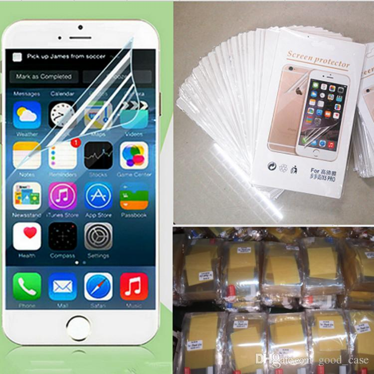 Clear Film Screen Protector Guard Protectors Sticker Film With Retail  Package Clean Cloth For The Iphone 4 4S 5 5S 5C 6s Plus Iphone 7 Plus  Tempered Screen ... 14ea7345b1