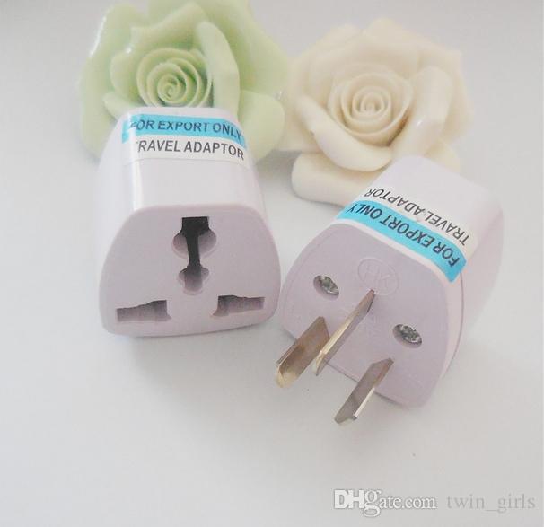 New Universal UK EU AU CN to US Adapter USA Travel Charger Adapter AC Power Plug Converter Free DHL