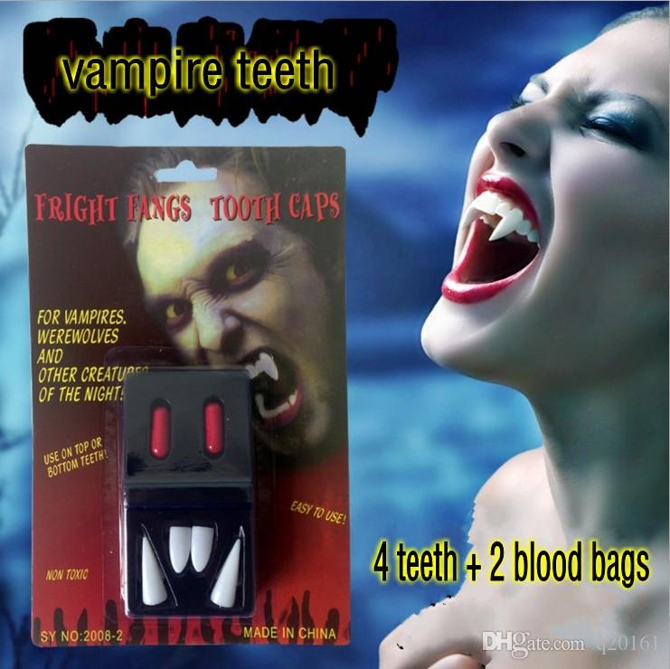 halloween vampire teeth 2016 masquerade props the devil fangs scary ghost zombie teeth wholesale arcade novelties novelty drinking games from q20161 - Halloween Novelties Wholesale