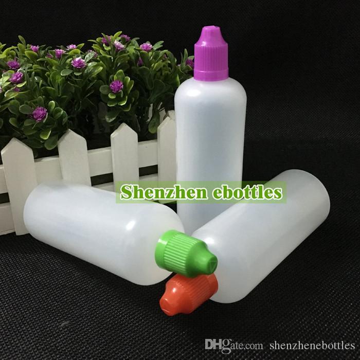 Qualitäts-freie Verschiffen weiche Art-PE-Nadel Flasche 120ML Plastiktropfflaschen LDPE E Caps kindersichere Flüssigkeit Empty Bottle