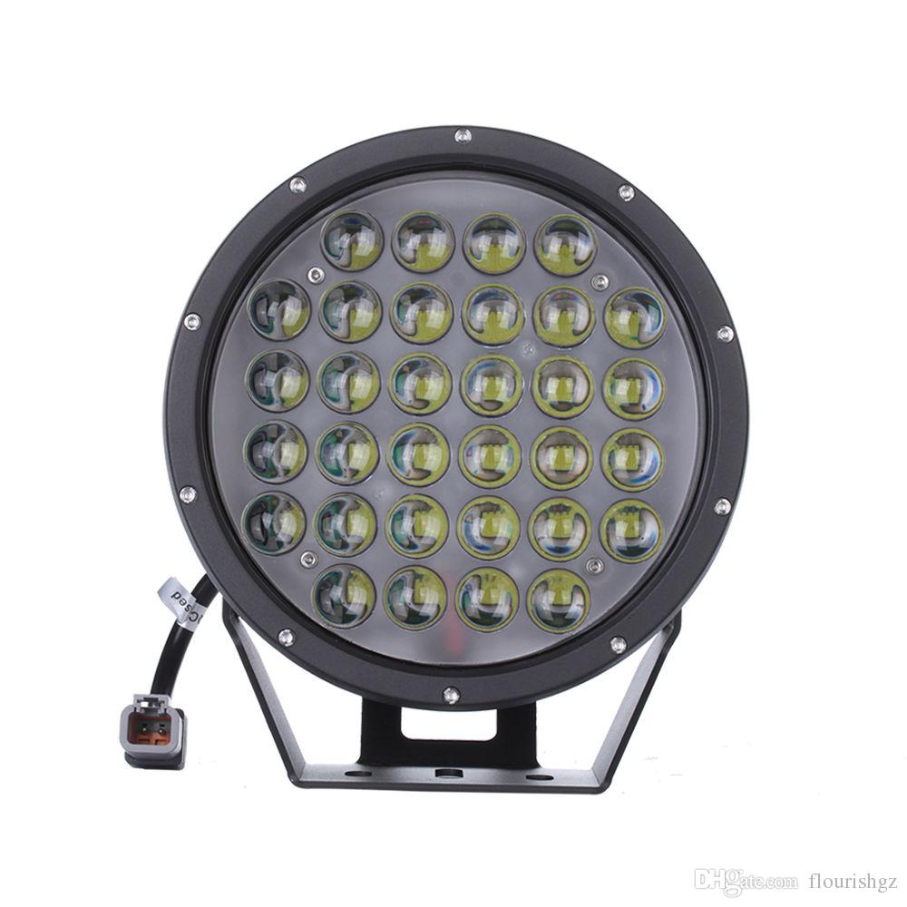 """DHL 9"""" 320W 32000lm Cree Chips LED Driving Work Light Offroad SUV ATV Spot Pencil Beam 32LED*10W With Flood Protective Cover 10-60V Dc"""
