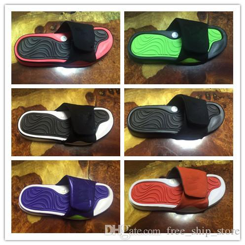 With Box Fashion 4 Slippers Sandals Hydro IV 4s Slides Black Men Basketball  Shoes Casual Shoes Outdoor Sneakers Size 8 13 Silver Shoes Slipper From ... eb1032b5f