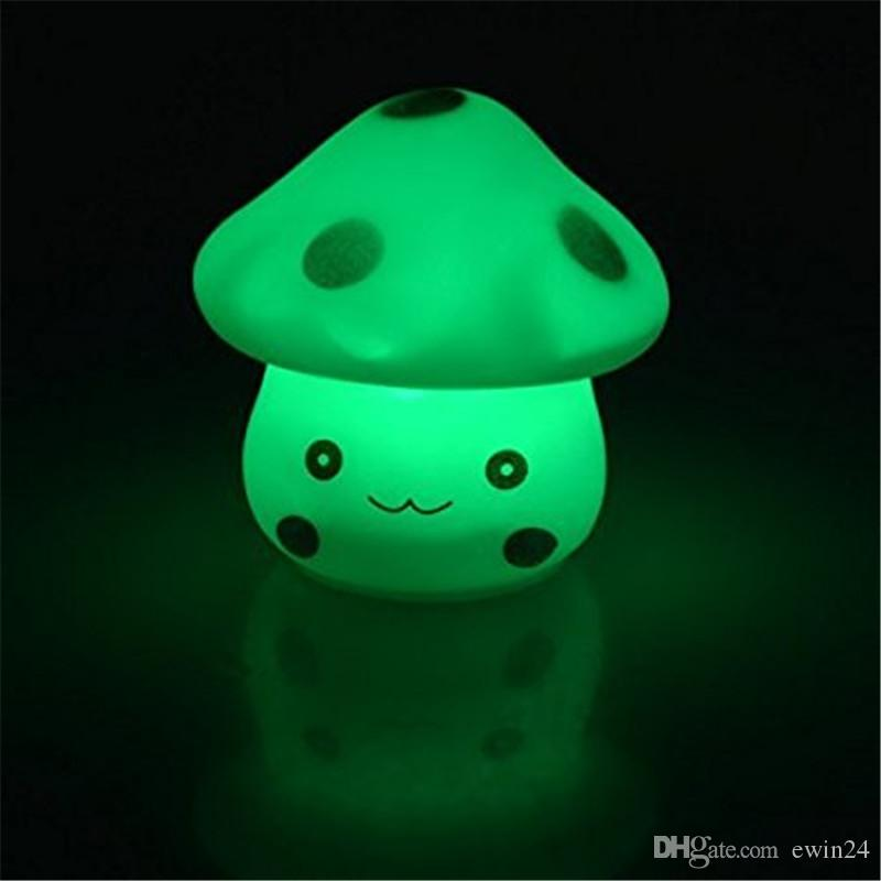 Популярные Изменения 7 Цвет светодиодные грибы партия свеча ночь свет лампы мини ночник оптовая цена