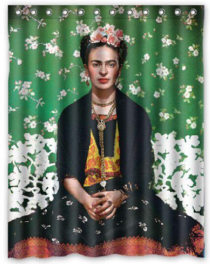 2018 Frida Kahlo Design Shower Curtain Size 140 X 180 Cm Custom Waterproof Polyester Fabric Bath Curtains From Littemanthree 2513