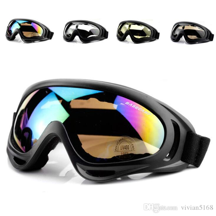 506c906a14f HOT Motorcycle Dustproof Ski Snowboard Sunglasses Goggles Lens Frame Eye  Glasses Tactical Protective Glasses X400 Ski Goggles Eyes Protector Online  with ...
