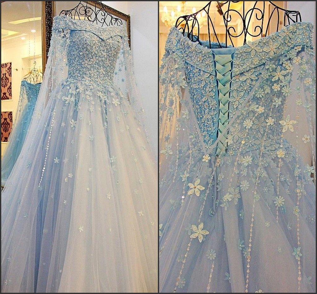 Фея романтический с длинным рукавом свадебные платья с плеча с бисером линия корсет Vestido де Novia очаровательные свадебные платья BA4019