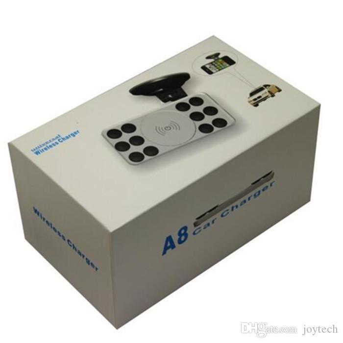 A8 Wireless Carging Ładowarka Uchwyt i ładowarka samochodowa do MAT A8 Nadajnik Pad Mata Universal Standard dla Samsung Galaxy S6 S7 S5