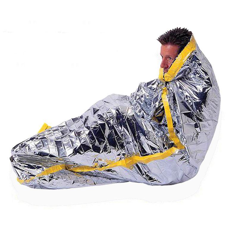 Portable Lightweight Emergency Survival Sleeping Bag All Weather Waterproof PET Film Thermal First-aid Reusable Sleeping Bags
