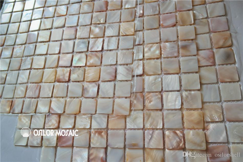 natural color Chinese freshwater shell mother of pearl mosaic tile for interior house decoration bathroom and kitchen wall tile 25x25mm