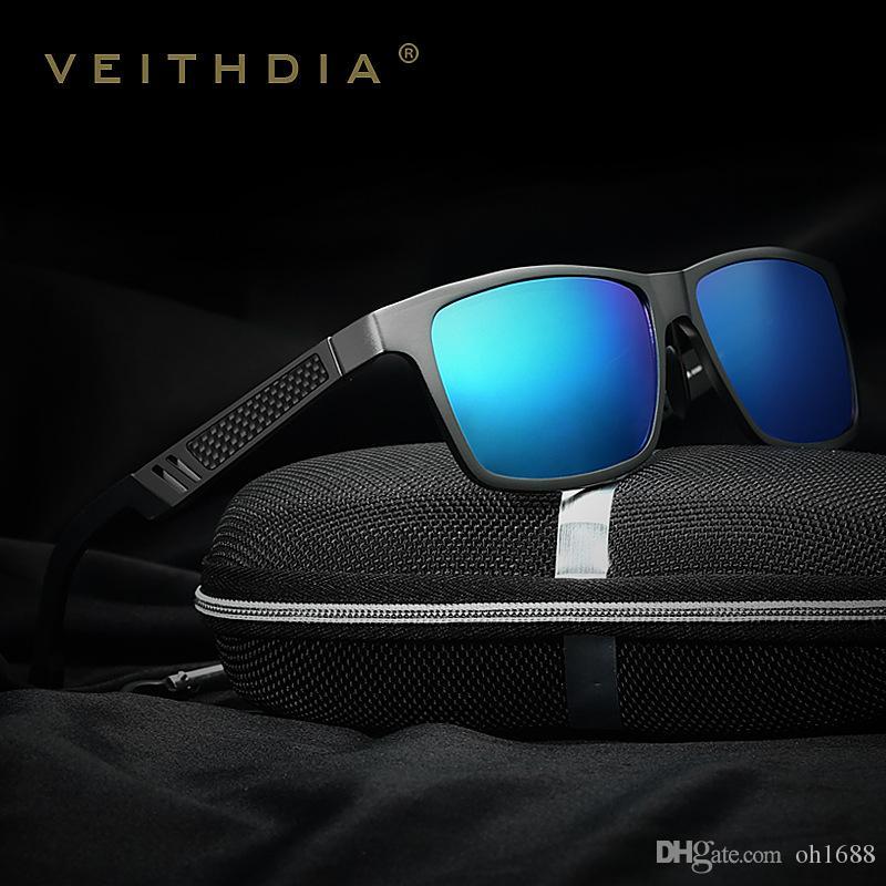 7c09c58f39d Veithdia Men Aluminum Polarized Mens Sunglasses Mirror Sun Glasses Square  Goggle Eyewear Accessories For Men Female Gafas 6560 Online Eyeglasses  Discount ...