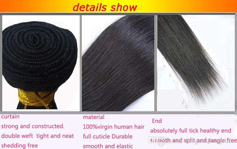 Unprocessed Chinese Brazilian Peruvian Hair Extensions Weave Cheap 8-30inch Human hair Weft 8A High quality 3 4 factory price